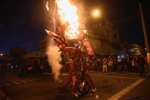 Quema del diablo barrio el Gallito 2018