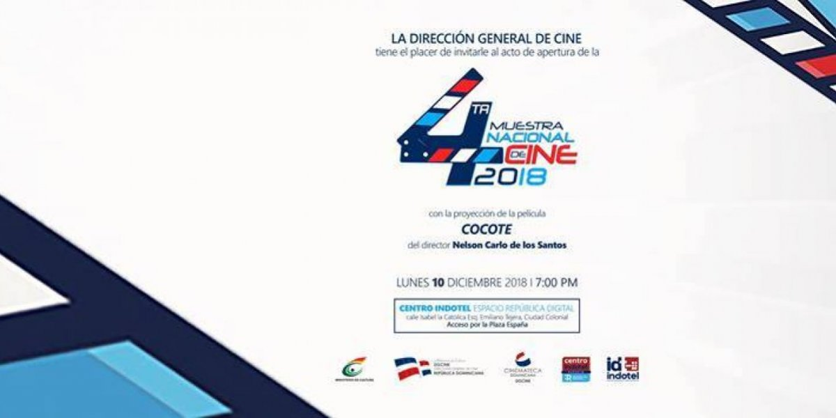 Cinemateca Dominicana acoge del 10 a 23 diciembre IV Muestra Nacional de Cine