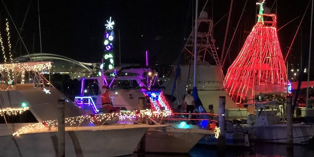 Derroche de luces en el San Juan Christmas Boat Parade