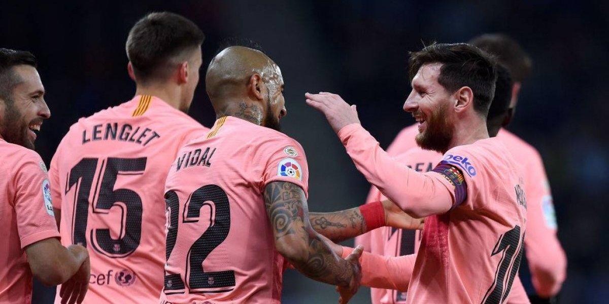 Así vivimos la contundente goleada de Barcelona sobre Espanyol con Arturo Vidal como protagonista