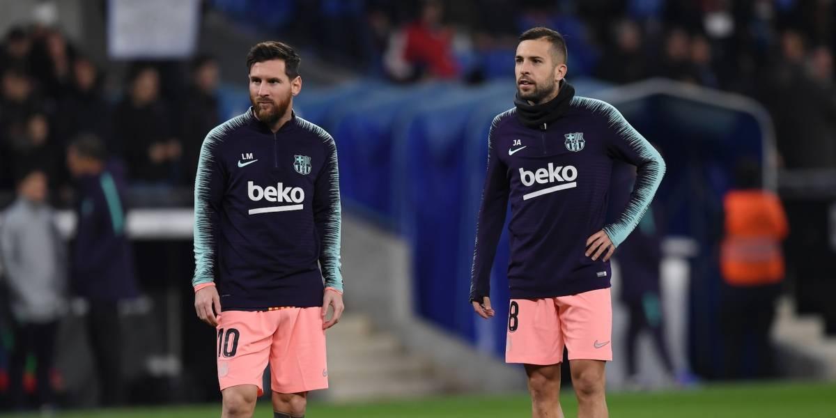 Alba arremetió contra Pelé: 'Si critica a Messi es porque no lo ha visto bien'