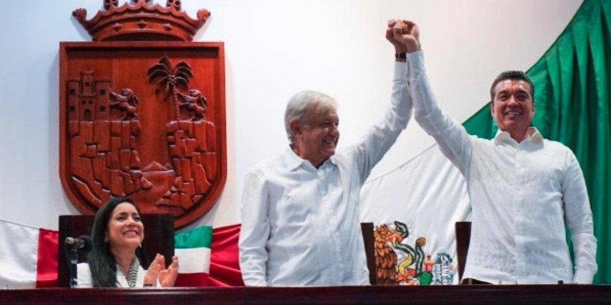 AMLO presente en la investidura de Rutilio Escandón como gobernador de Chiapas