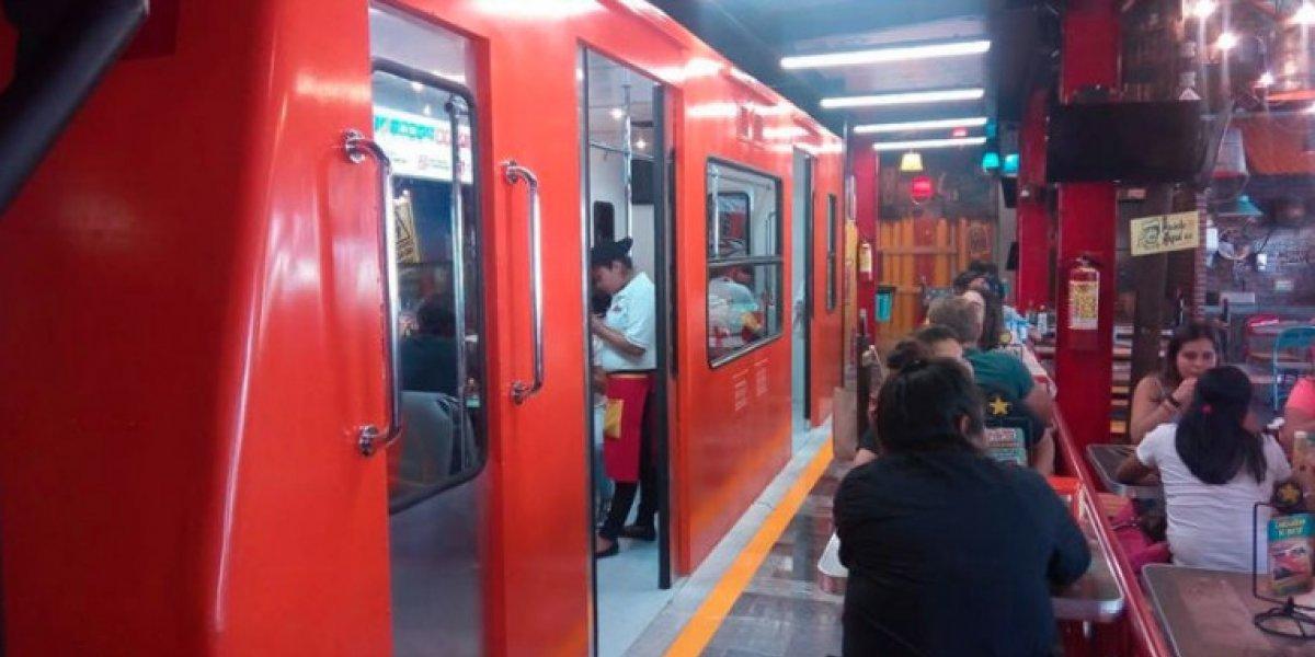 ¿Conoces la taquería que se encuentra dentro de un vagón del Metro?