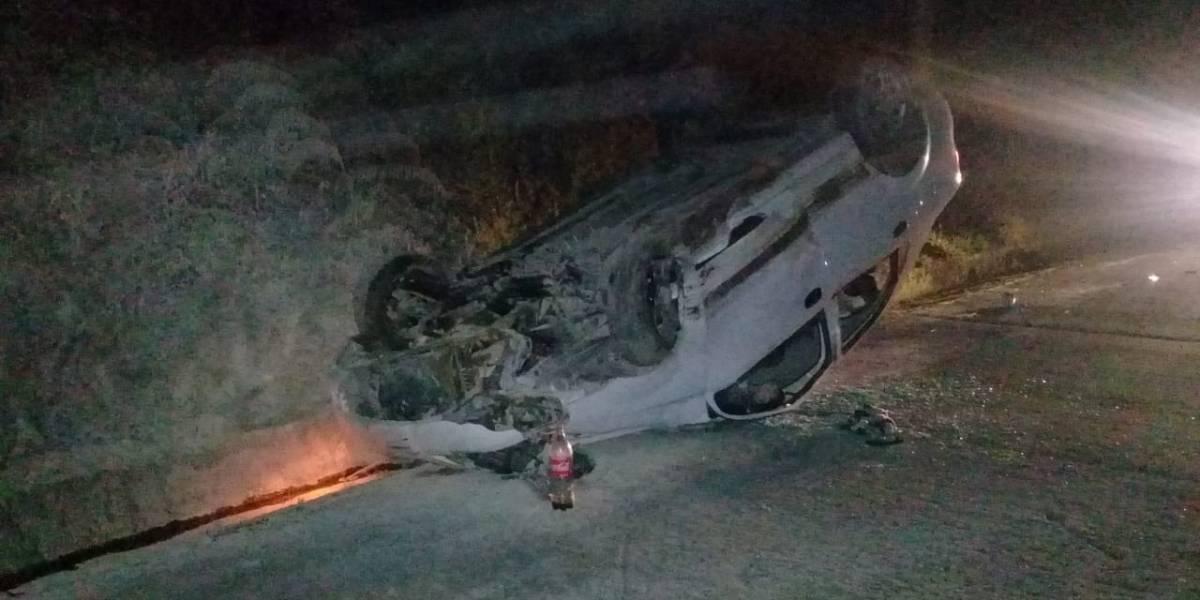 Cinco heridos en accidente de tránsito enel km 28 de la vía Tena-Baeza