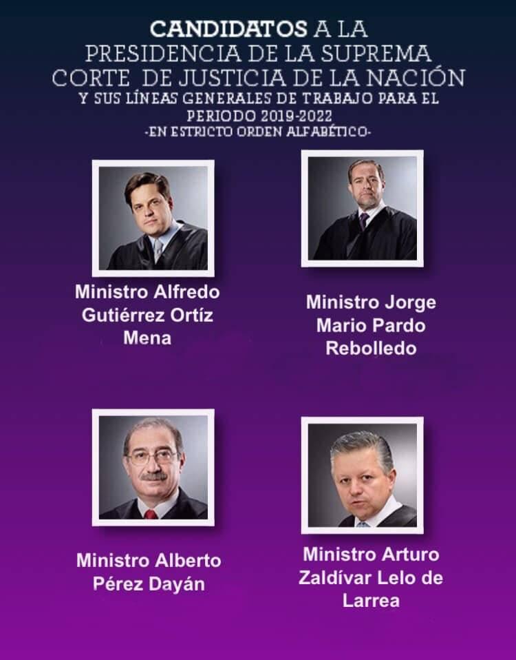 Candidatos a presidir la Suprema Corte de Justicia de la Nación