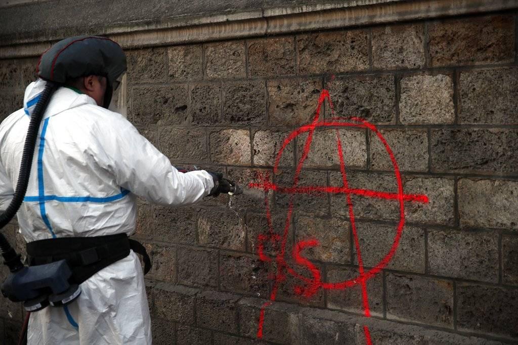 París, un día después de las manifestaciones Foto: AP