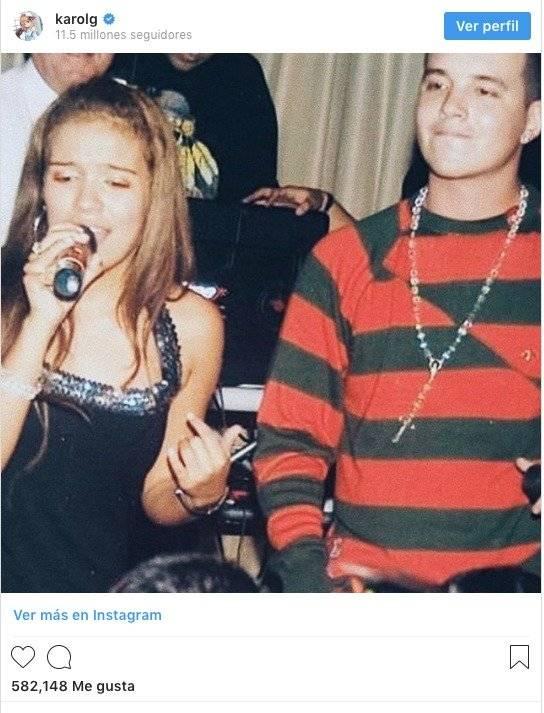 Karol G en su pasado Instagram