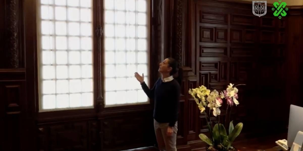 Claudia Sheinbaum retira puertas blindadas de su oficina