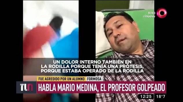 Alumno golpea a docente en Argentina
