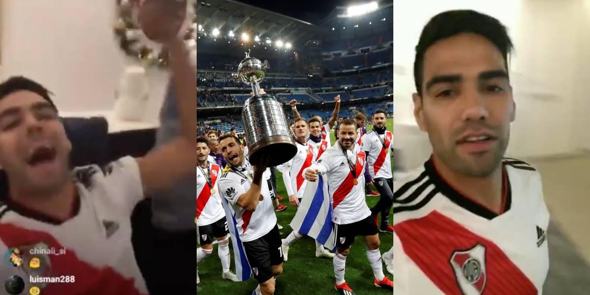 La desenfrenada celebración de Falcao García tras el título de River Plate