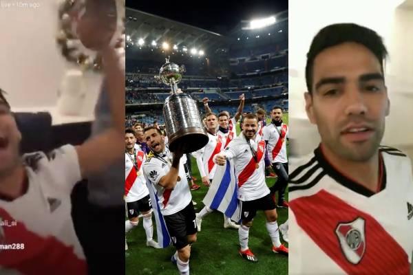 Video de celebración de Falcao García tras campeonato de River