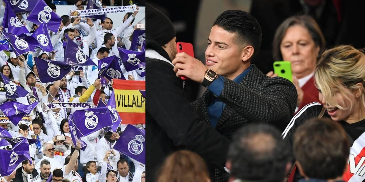 James regresó al Bernabéu y los hinchas del Real Madrid le gritaron una petición