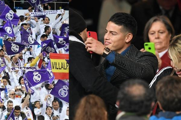 James Rodríguez regresó al Santiago Bernabéu