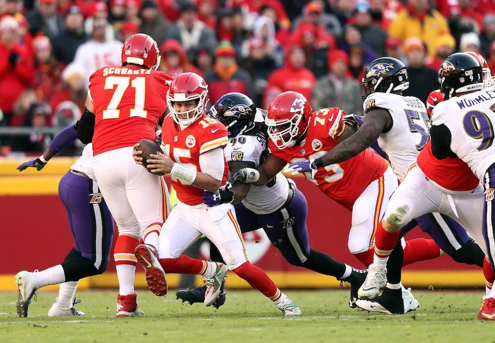 Ravens 24-27 Chiefs / Getty Images