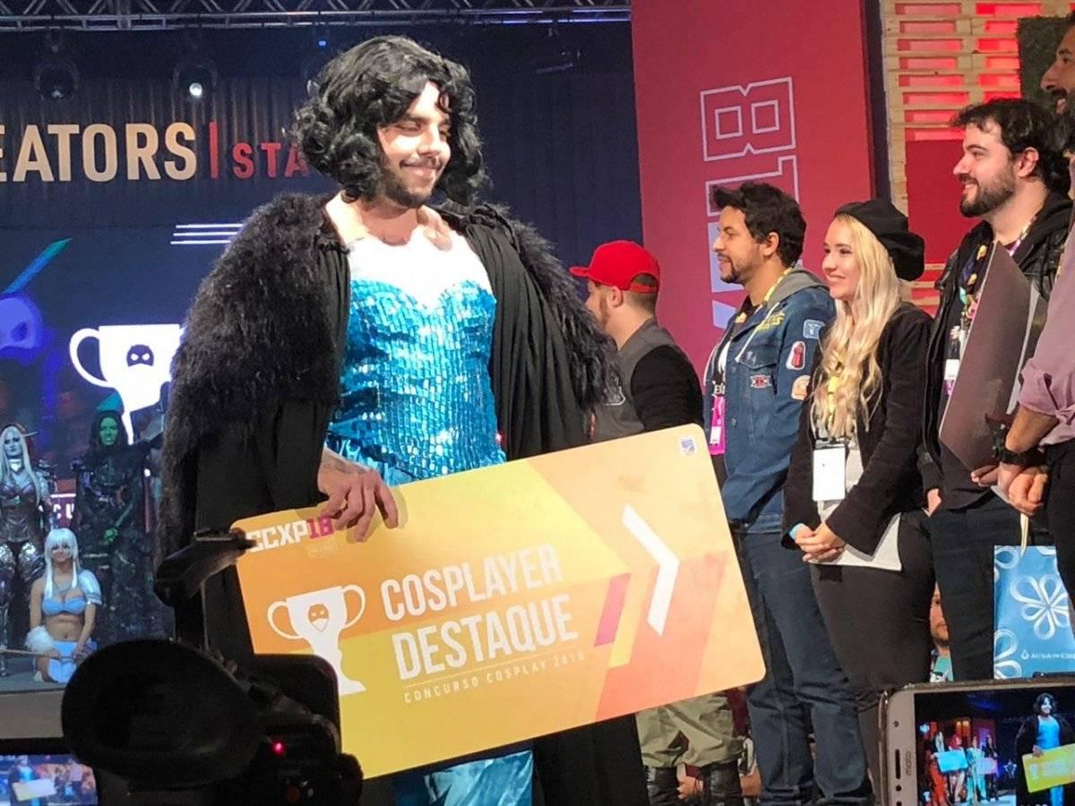 Nuno Gomes recebeu o prêmio de Cosplay Destaque como Jon Snow Laís Pagoto/Metro Jornal