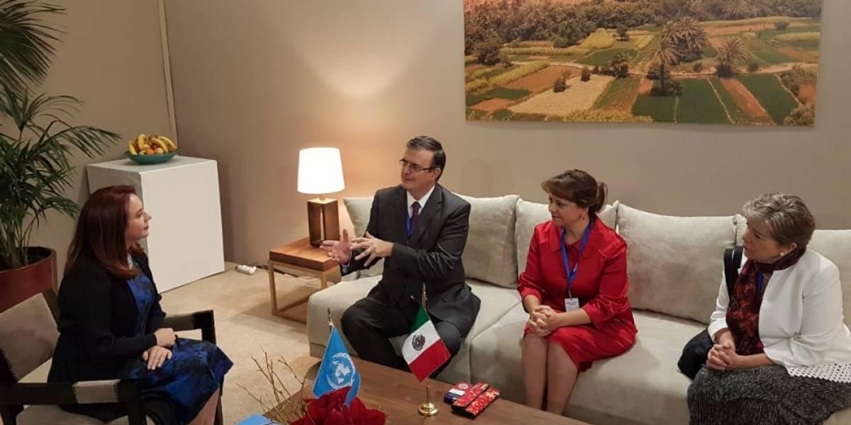 Ebrard llega a Marruecos para conferencia mundial sobre migración