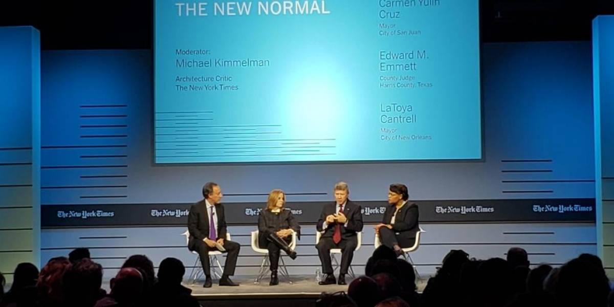 """Carmen Yulín estuvo en el """"Cities for Tomorrow Conference"""" del NY Times"""
