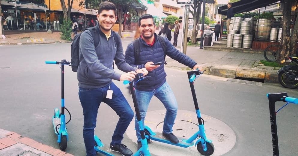 Alquiler de scooters, la nueva solución de transporte de Bogotá