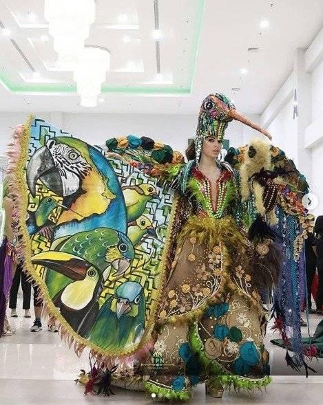 traje típico de Virginia Limongi en el Miss Universo Instagram