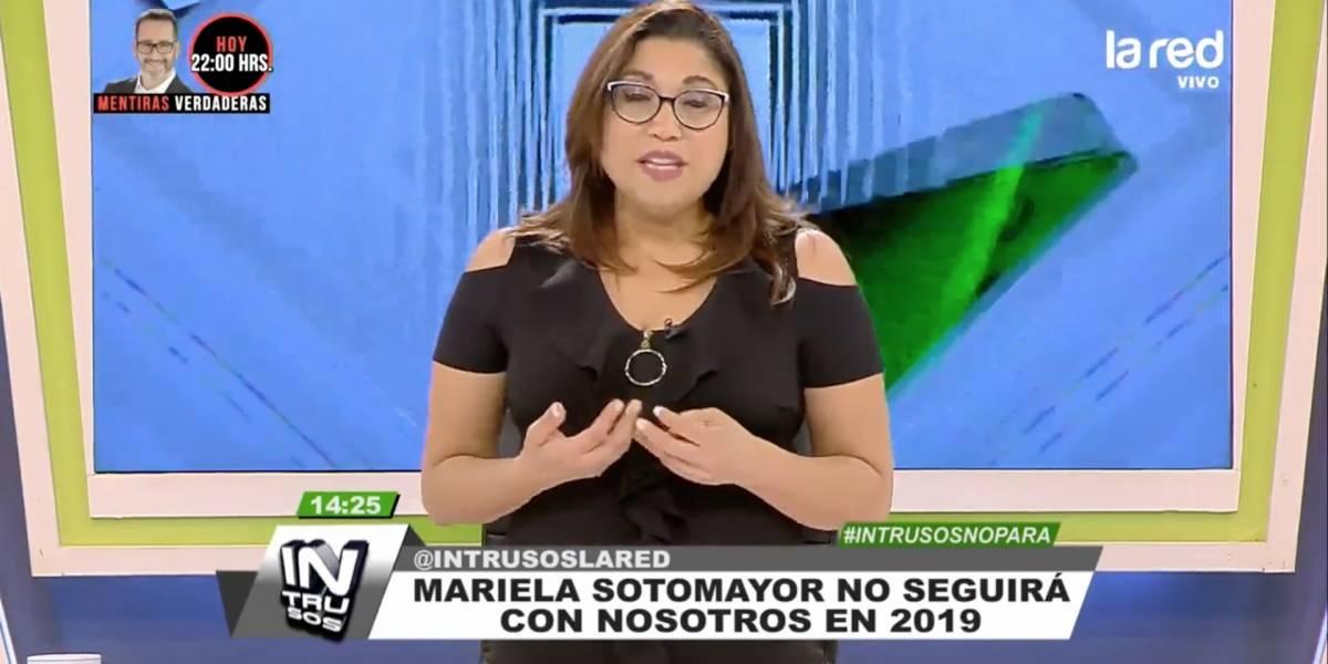 """""""Intrusos"""" aclara salida de Mariela Sotomayor: """"No es por mal desempeño"""""""
