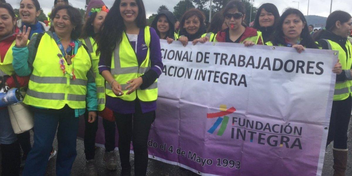 De Francia a Chile: los chalecos amarillos se hicieron presente por primera vez en marcha de trabajadoras Integra