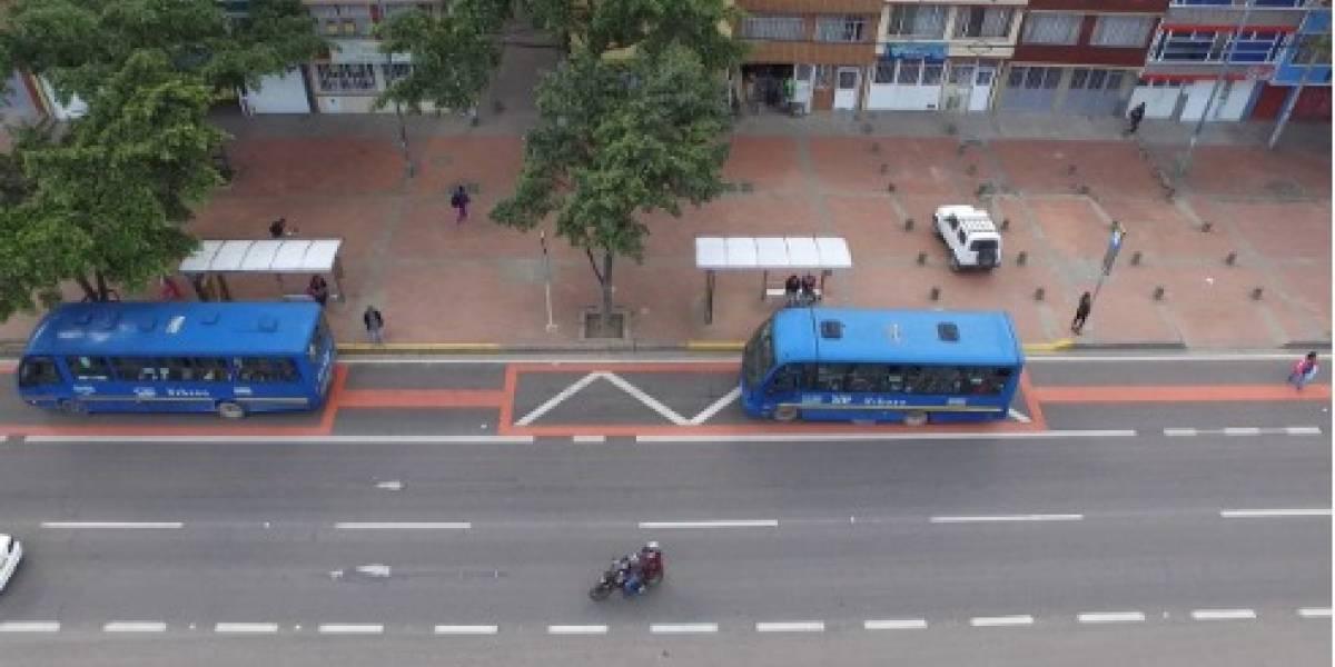 La multa para conductores que usan el carril preferencial del SITP