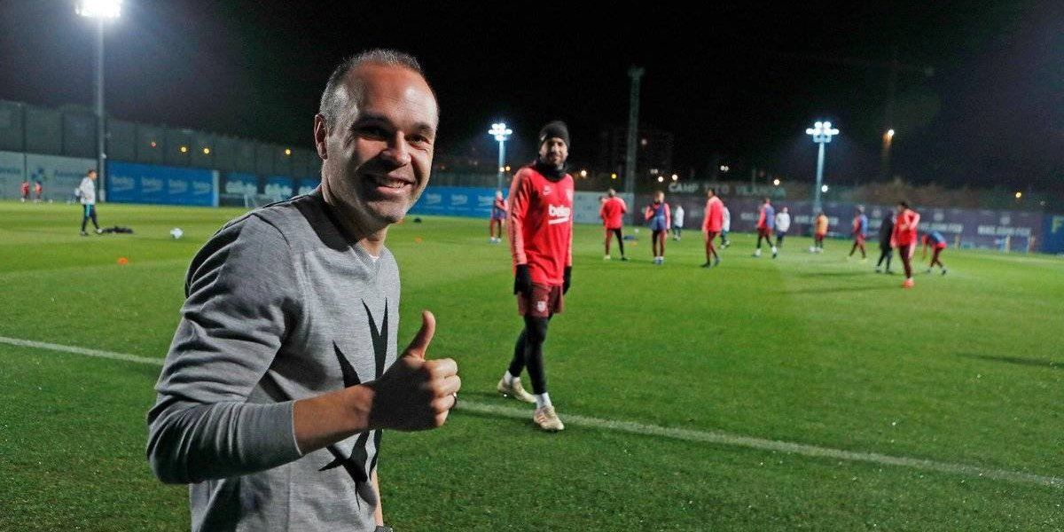 VIDEO: Andrés Iniesta regresa a Barcelona