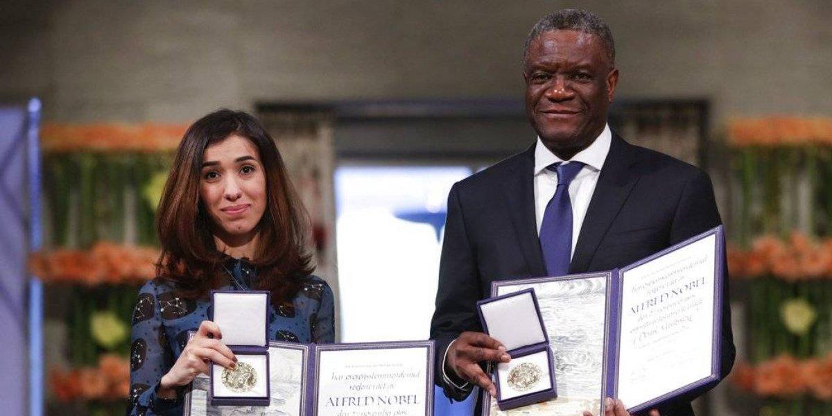 Reciben Nobel por luchar contra violencia sexual de la Yijad