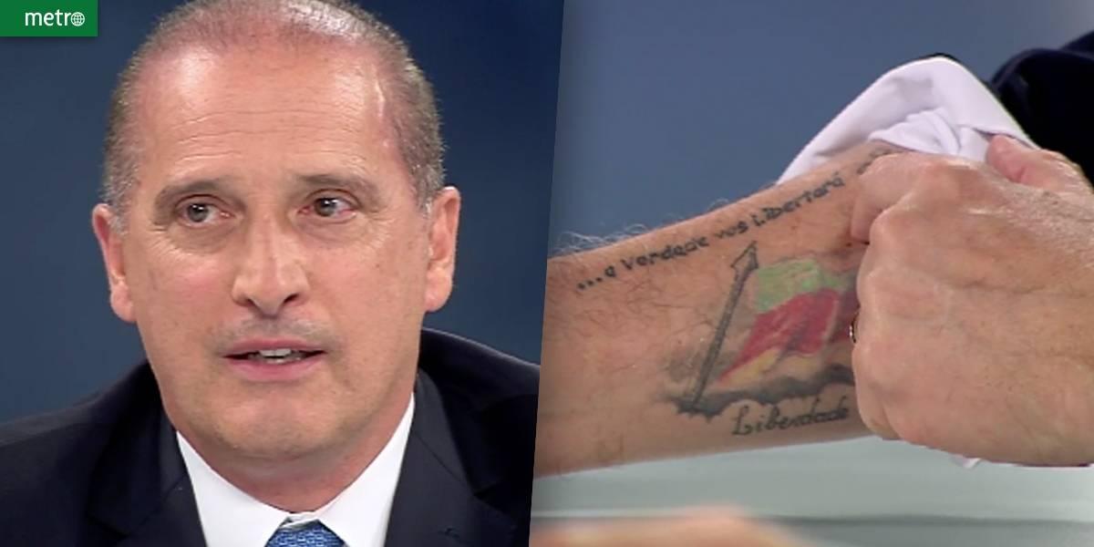 Onyx revela tatuagem sobre caixa 2: 'Para lembrar do que dia que errei'