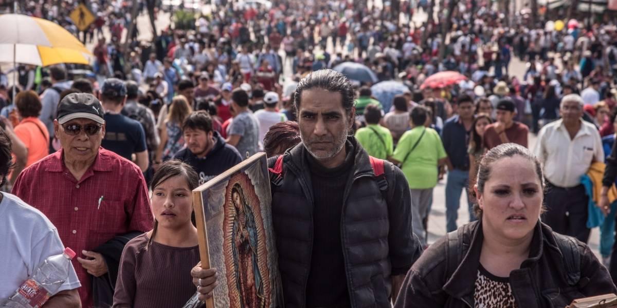 Cierres viales por llegada de peregrinos a la Basílica de Guadalupe