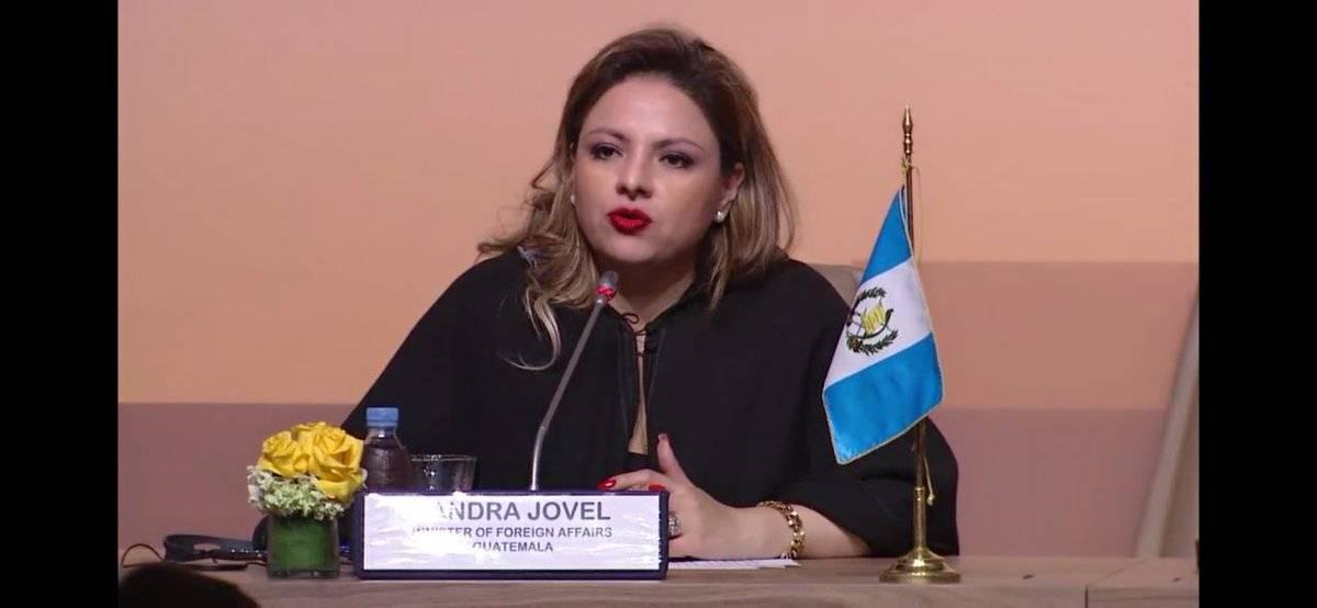 Sandra Jovel, ministra de Relaciones Exteriores. Foto: Minex