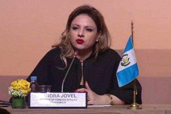 canciller Sandra Jovel participa en conferencia del Pacto Mundial para una Migración Segura, Ordenada y Regular