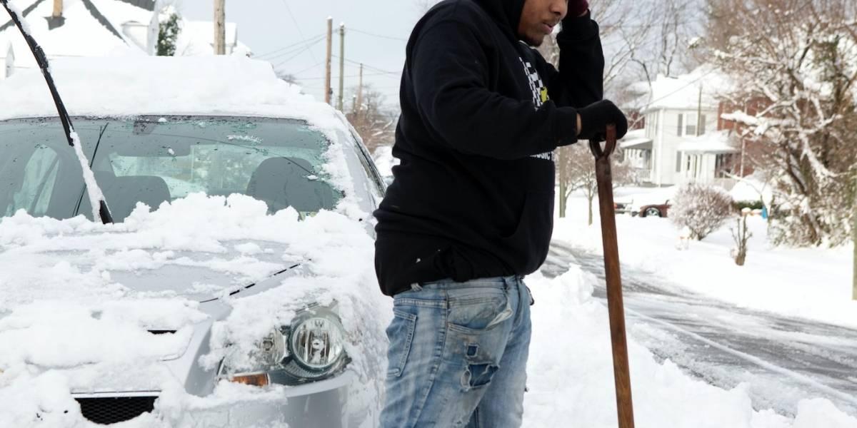 Tormentas cubren de nieve al sureste de EE.UU.