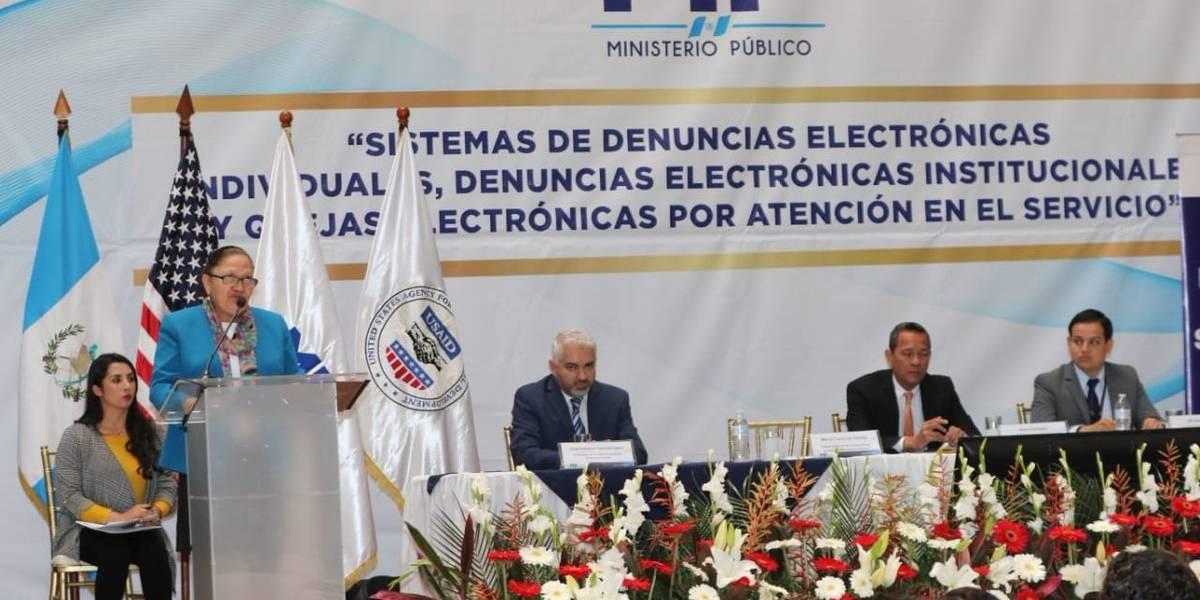 Ministerio Público lanza sistema de denuncias electrónicas