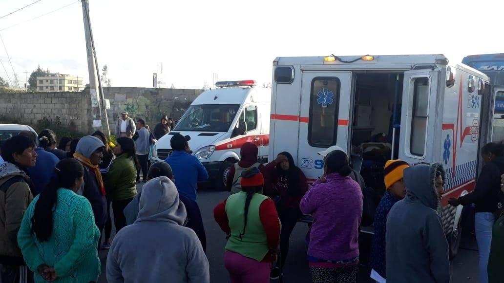 Quito: Se reportó un accidente de tránsito en el sector San Juan de Calderón Cortesía