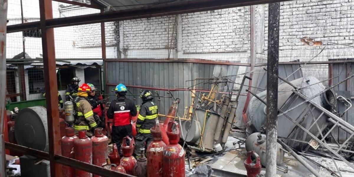 Quito: Se reporta la explosión un tanque de oxígeno en el sector de Carcelén