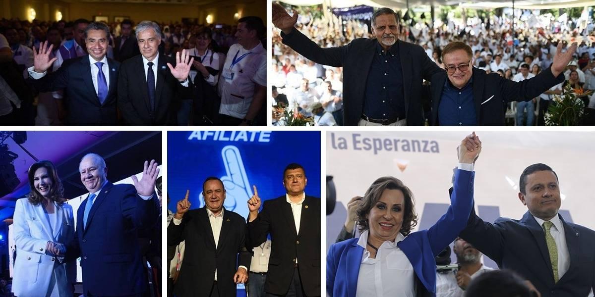 Ellos son los diez guatemaltecos que buscan dirigir el país