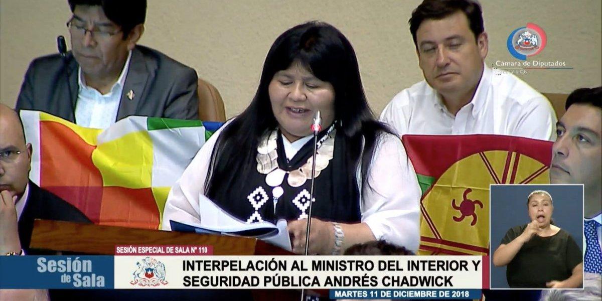 """Interpelación: ¿qué significa """"lagmien"""", la palabra que usa la diputada Nuyado para referirse a Camilo Catrillanca?"""
