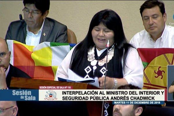 """Interpelación: ¿qué significa la palabra """"lagmien"""" que usa la diputada Nuyado para referirse a Camilo Catrillanca?"""