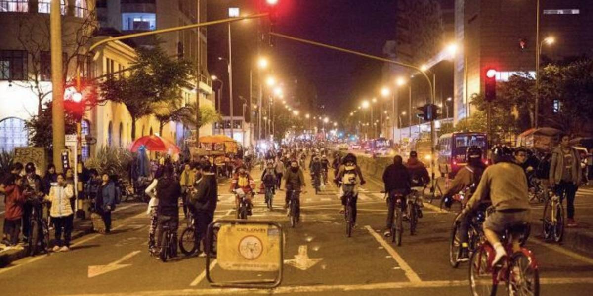 Conozca los cierres viales por la ciclovía nocturna de este jueves en Bogotá