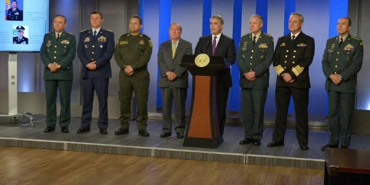 Las fuertes críticas a Iván Duque por haber cambiado la cúpula militar