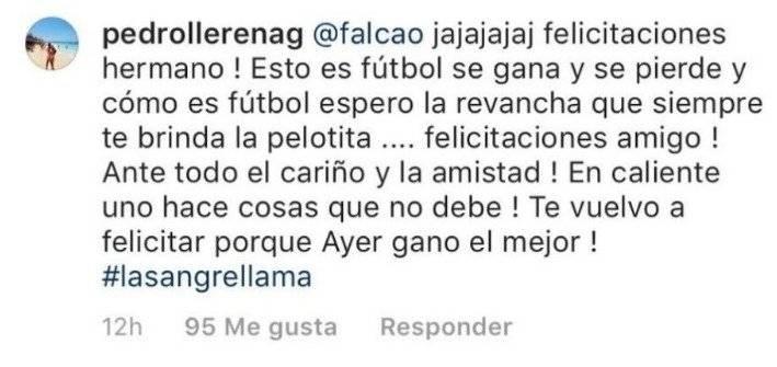 Falcao García e hincha intercambiaron divertidos mensajes en redes sociales