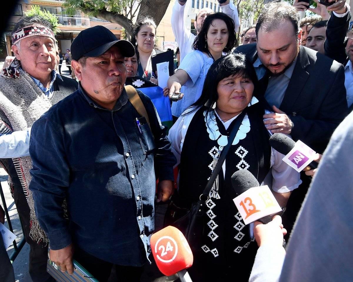 Marcelo Catrillanca llega junto a Emilia Nuyado a la interpelación al ministro Chadwick