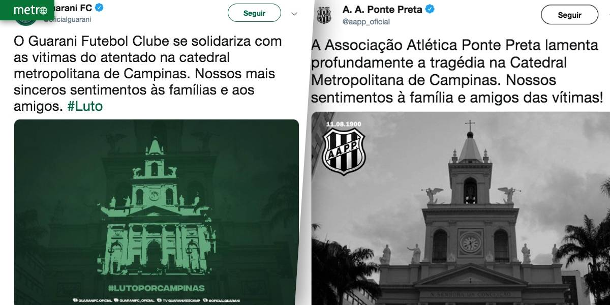 Clubes de futebol de Campinas se solidarizam com vítimas de ataque