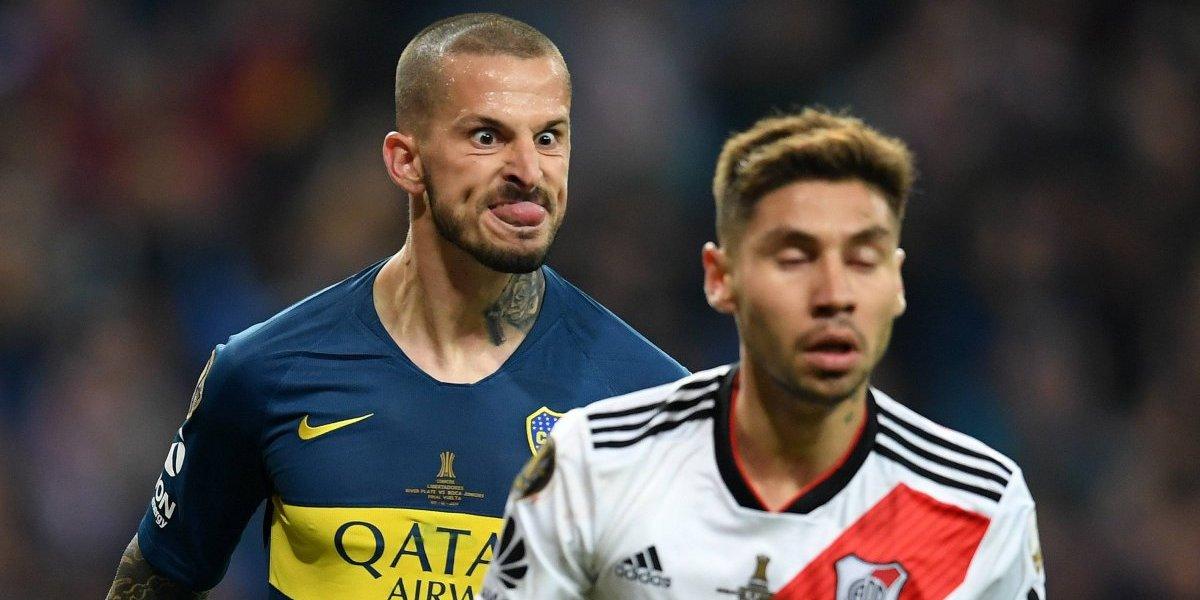 Gonzalo Montiel respondió a la polémica celebración de Darío Benedetto en la final de la Libertadores