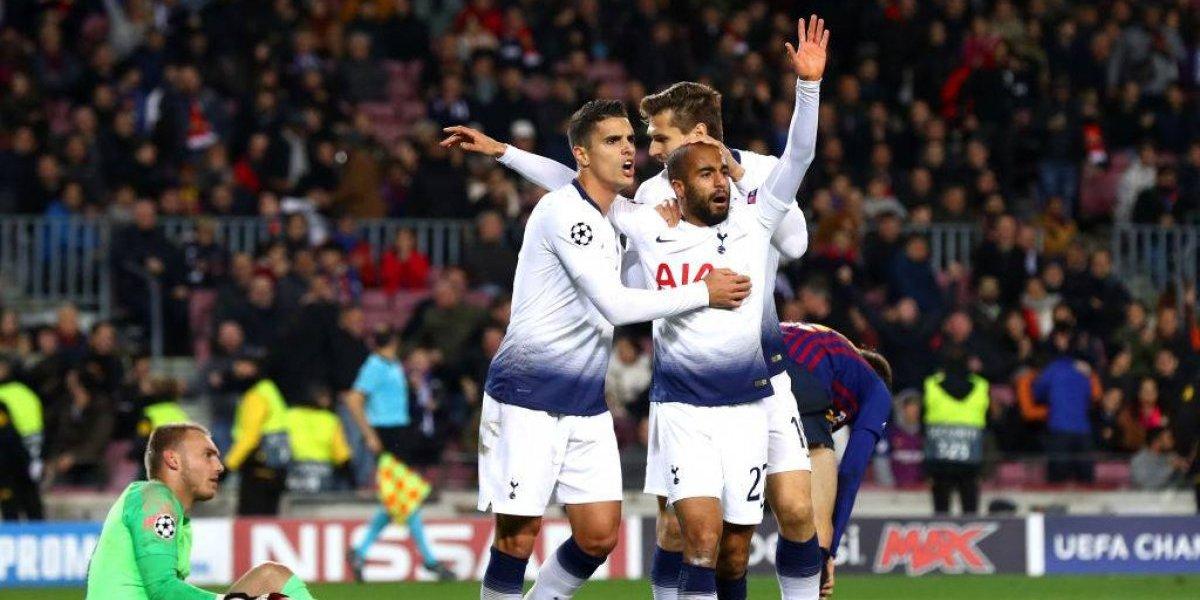 Tottenham le sacó un heroico empate a Barcelona y eliminó a Inter de la Champions League