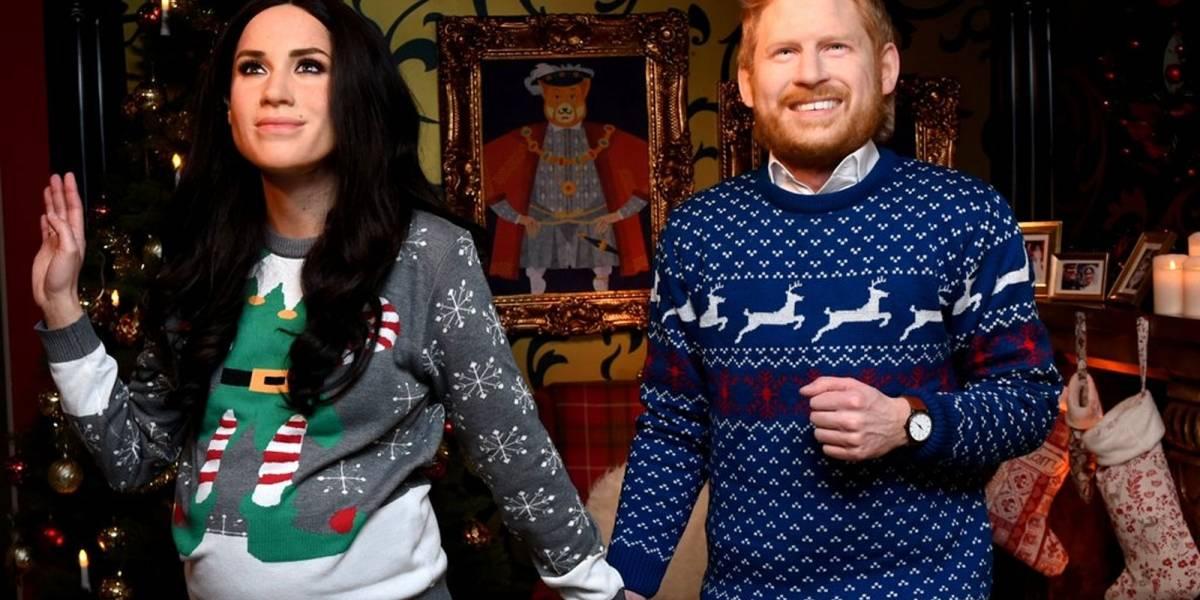 ¡No se parecen en nada! Polémica con las figuras de cera de Meghan Markle y el Príncipe Harry