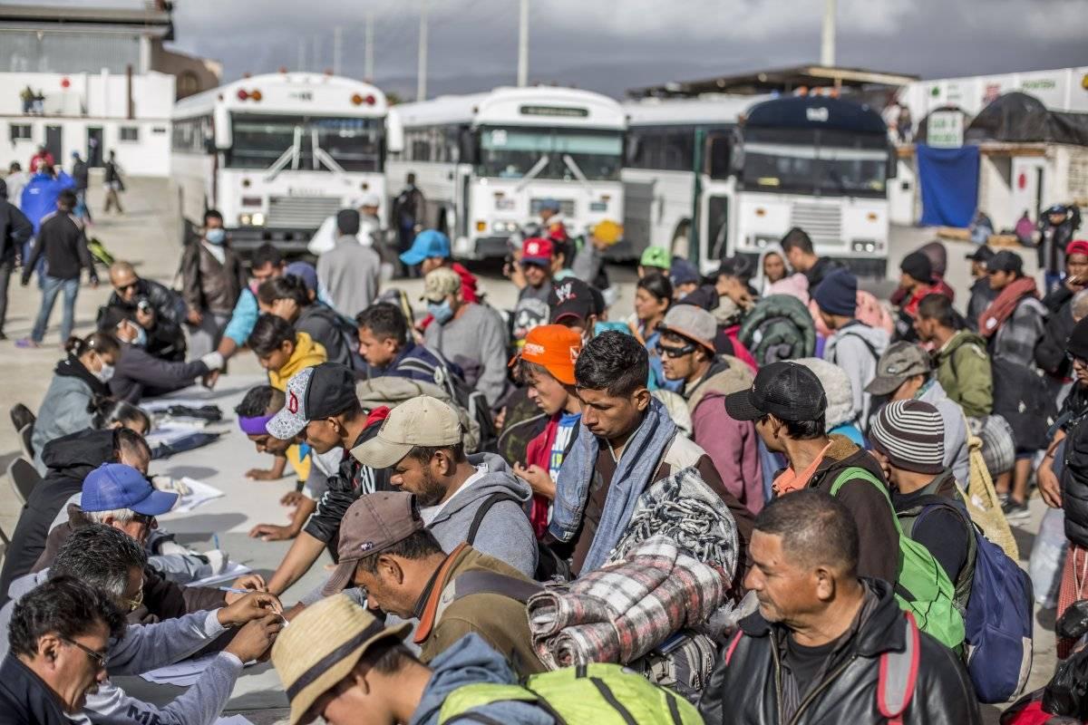 Migrantes en Tijuana, Baja California. Foto: Cuartoscuro