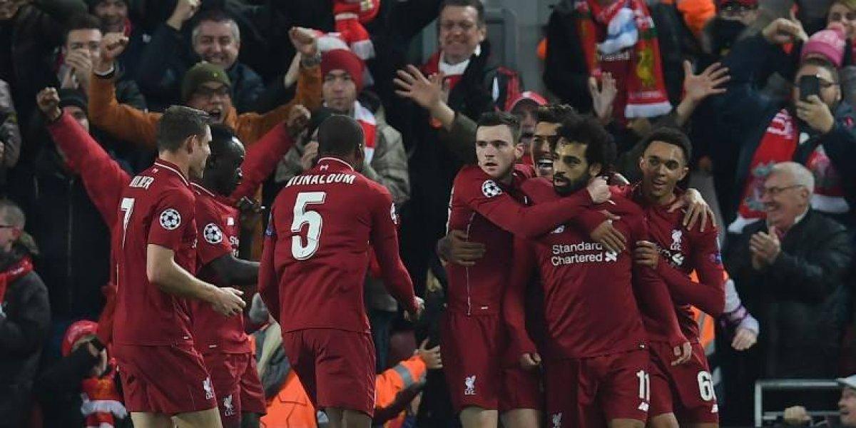 El Liverpool le arrebata al Nápoles, el boleto a los octavos de la Champions
