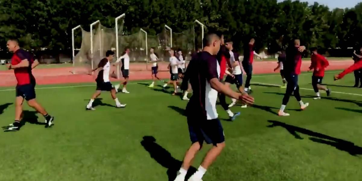 Chivas entrenó por primera vez en Emiratos Árabes Unidos